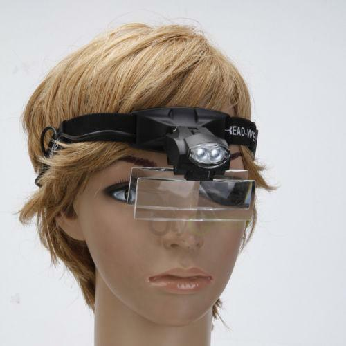 Lighted Headband Magnifier Ebay