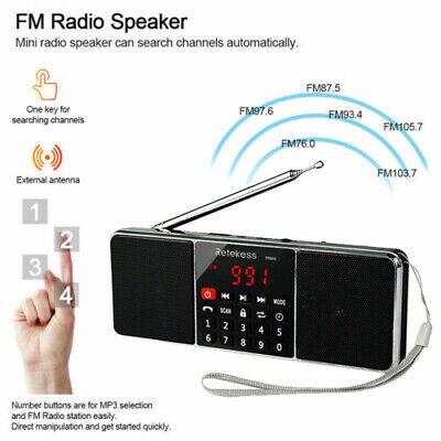 Portable Radio AM/FM Stereo Speaker Sleep Timer Bluetooth Bass Multimedia Gift Portable Stereo Multimedia