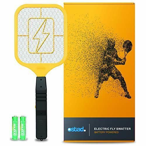 Ostad Bug Zapper Electric Fly Swatter Racket - Powerful Handheld Indoor Outdoor