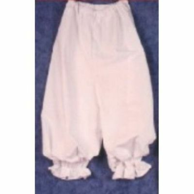 CHILD KIDS RAG RAGGY DOLL VICTORIAN COSTUME BLOOMERS PANTALOON WHITE RENAISSANCE