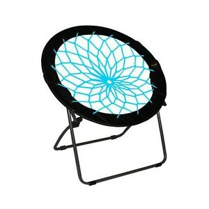 Zenithen Ltd IC544S-TV04 Black & Teal Bunjo Bungee Folding Chair