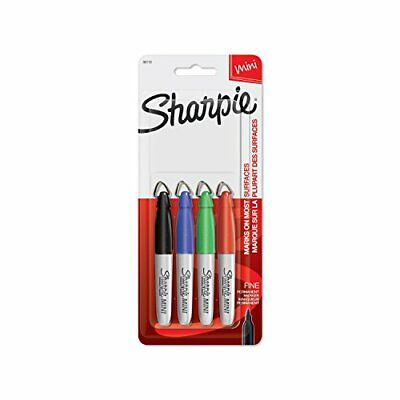 Sharpie 35113 Mini Permanent Markers Fine Point Assorted Colors 4 Count