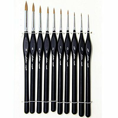10 Pcs Best Professional Detail Paint Brush,High Quality Miniature Brushes Will