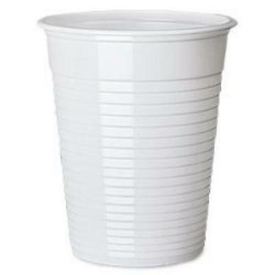 White 7oz Disposable Flexi Drinking Cups Pk100