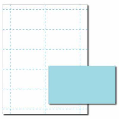 Blue Business Card Printer Paper 25 Sheets Yields 250 Cards