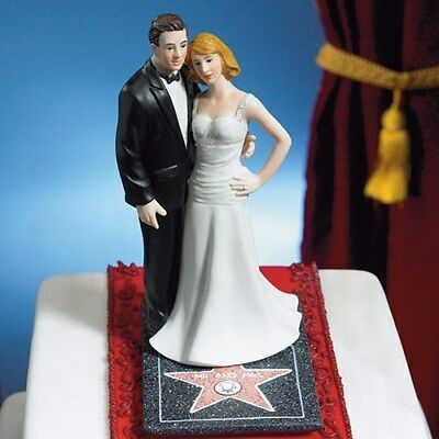 Hollywood Themed Wedding (Wedding Cake Topper with a Hollywood Theme Bride and)