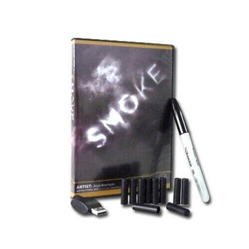 Smoke by Alan R (Gimmicks+DVD+10 pcs Refills) Magic Tricks,Street Magic,Illusion
