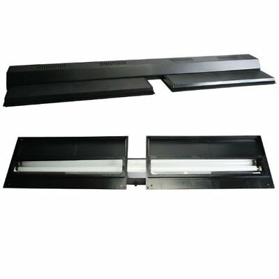 Perfecto Manufacturing Recessed Full Fluorescent Light Hood Black 48 Inch X...