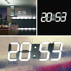 Modern Design Large LED Digital Skeleton Wall Clock 24/12 3D Remote control