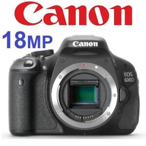 USED CANON EOS 600D CAMERA BODY DS126311 226432444 18MP CMOS DIGITAL SLR PHOTOGRAPHY