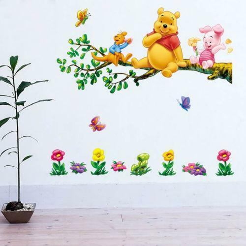Winnie the pooh wall stickers ebay for Baby pooh and friends wall mural