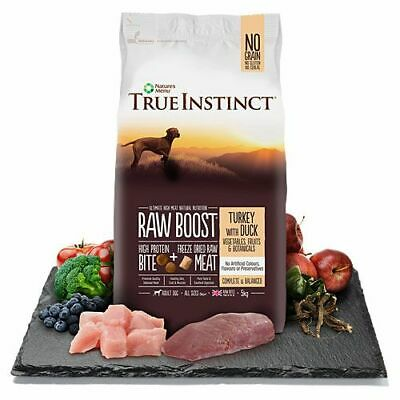 Natures Menu Adult True Instinct Raw Boost Turkey Dry Dog Food Grain Free 1.5kg