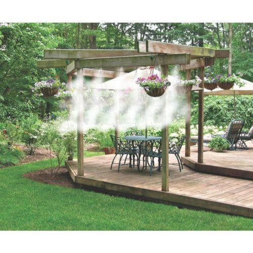 Misting system home garden ebay for Portable watering tanks for gardens