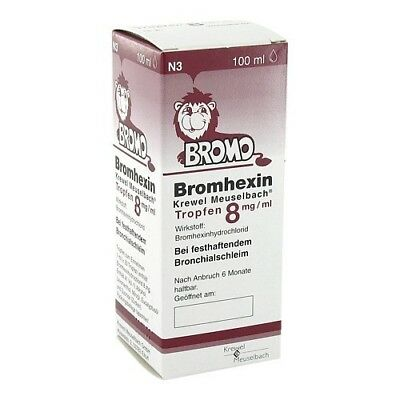BROMHEXIN Krewel Meuselb.Tropfen 8mg/ml 100ml PZN 07291822