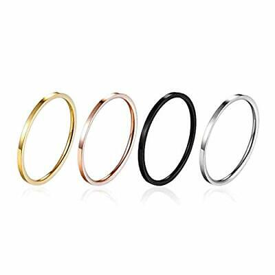 Thin Stainless Steel Rose Gold Couple Ring Simple Fashion Fi