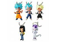 Set of 5 Bandai Dragon Ball Z Super UDM V Jump Special 06 Gashapon Keychain