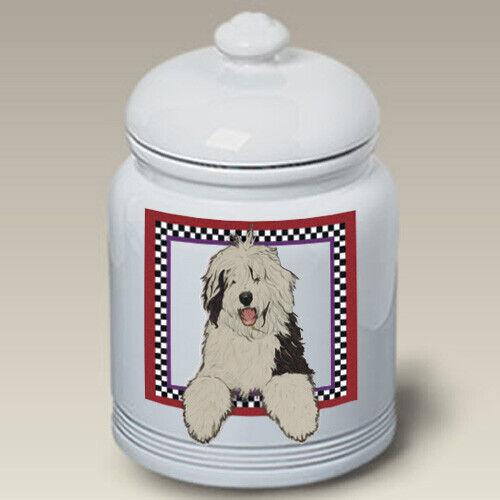 Old English Sheepdog Ceramic Treat Jar PS 52129