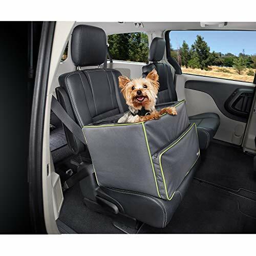 Good2Go Booster Dog Car Seat, Gray / Green