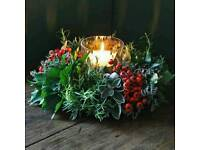 1day class for christmas centerpieces