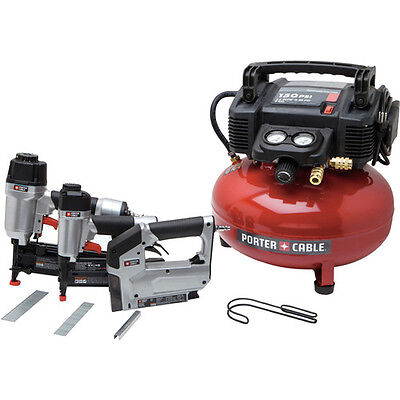 Porter-Cable 3pc Finish Nailer & Brad Nailer Combo Kit PCFP12234 Reconditioned