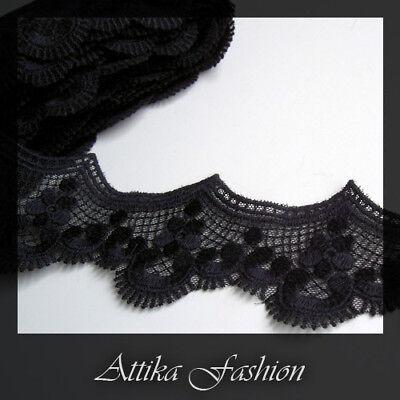 Black Beauty --- Silky Designer Fashion Trim *Per yard*