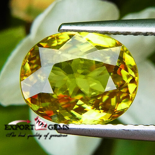 UNHEATED 2.97CT NATURAL YELLOW SPHENE