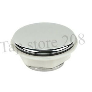 SINK/TAP HOLE COVER/CAP CHROME PLASTIC