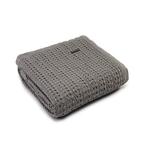 Stonewashed Cotton Bedspread Throw 130 cm x 170 cm