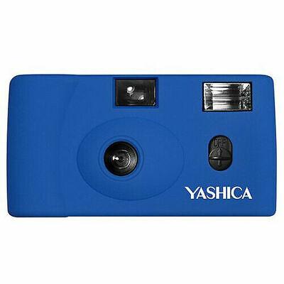 YASHICA MF-1 Snapshot Art 35mm Simple Film Camera Set Roll Film Bundle (Blue) i
