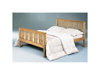 Solid, Double, Brazilian, Pine, Wooden Bed, Frame, Ortho, Sprung, Mattress, king, oak, pine bed,
