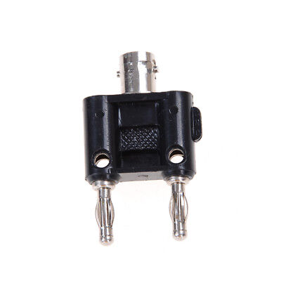 New BNC Female Jack To Two Dual Banana Male Plug Rf Adapter Connector s/