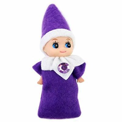 Baby Elves Dolls Toys | Christmas Miniature Elf Doll | Tiny Baby girl Purple