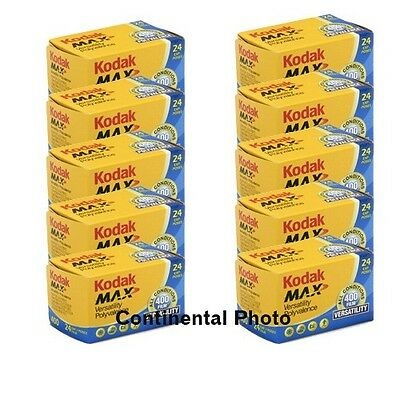 10 Rolls Kodak GC 135-24 Max 400 Color Print 35mm Film ISO 400 3/2019