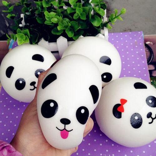 2Pcs Jumbo Medium Mini Panda Squishy Cute Slow Rising Cell Phone Strap Bun Kit