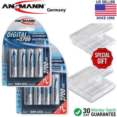 4 Aa 2700mah Nimh Batteries (2 Ansmann Digital AA 2700mAh Rechargeable NiMH Batteries (4-Pack) + Battery)