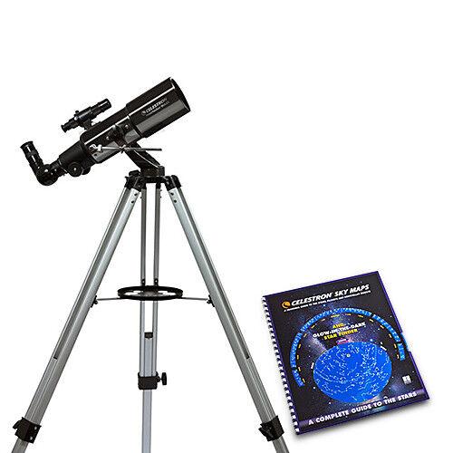 Celestron 21087�powerseeker Refractor Telescope W/ 3.15 Inch Aperture & Skymaps