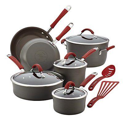 Rachael Ray Cucina Hard Anodized Aluminum Nonstick Cookware Set 12...