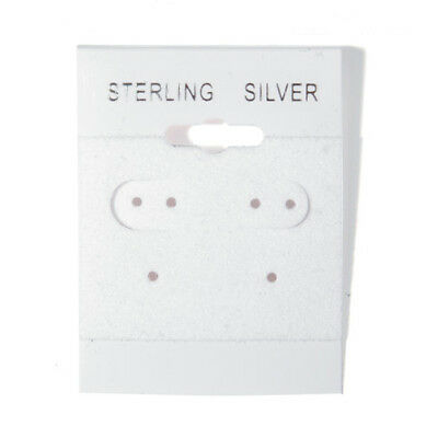 2000 Sterling Silver White Hanging Earring Cards Display 2 X 1 12 With Lip