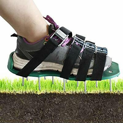 Lawn Aerator Spike Shoes with Heavy Duty Metal Buckles 4 Adjustable Straps and