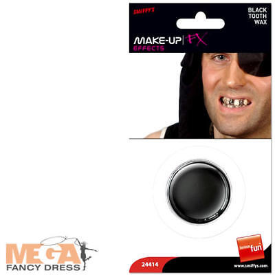 Black Tooth Wax Fancy Dress Halloween Pirate Rotten Teeth Costume Accessory New](Halloween Rotten Teeth)