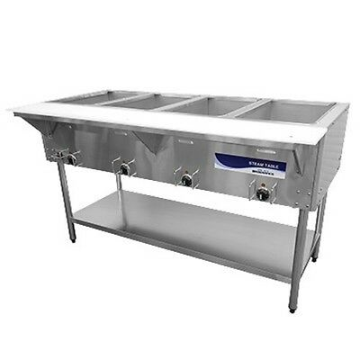"Radiance RST-4P 58"" Electric S/s Hot Food Steam Table w/ 4 Top Openings"