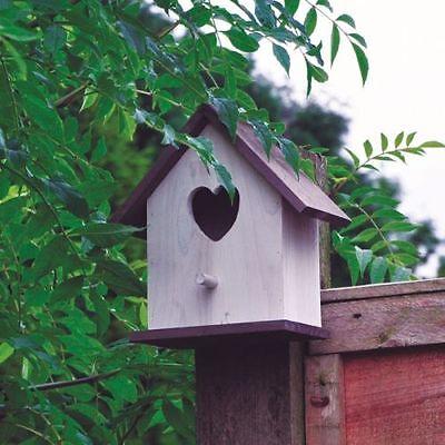 White shabby Chic Wooden Bird House Hotel Nesting Box Garden Ornament Wall NEW