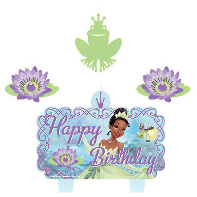 PRINCESS AND THE FROG CANDLE SET (4) ~ Birthday Party Supplies Cake - Princess Cake Decorating Supplies