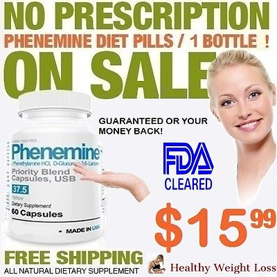 1 Phenemine Adipex 37.5 375 P Caps Best Diet Pills Suppress Appetite Suppressant 1