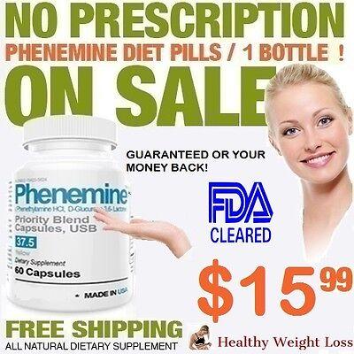1 Phenemine New Appetite Slimming Adipex 37.5  Rapid Weight Loss Best Diet Pills 6