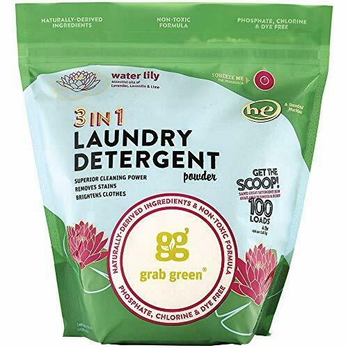 Grab Green Natural 3-in-1 Laundry Detergent Powder, Water Li