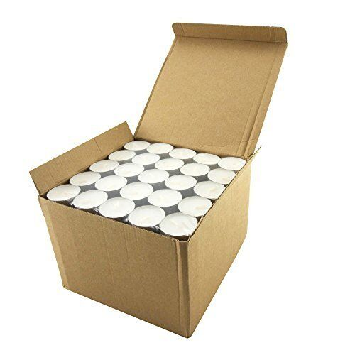 Long Lasting Unscented Tealight Candles for 6-7 Hour Extended Burn Time 200 Pack