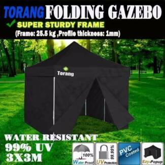Brand New Torang 3x3 m Folding Outdoor Gazebo Marquee Tent