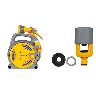 Hozelock Pico Hose Reel, 10 M & Hozelock 2274 Multi Tap Connector Set