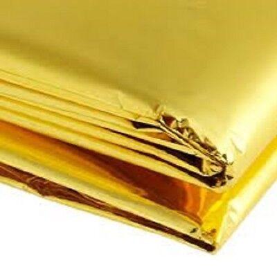 Urgence Solaire Couverture de survie sécurité isolante Mylar thermique Gold-Pack de 4